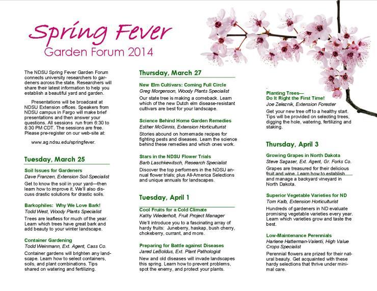 Spring Fever brochure2014