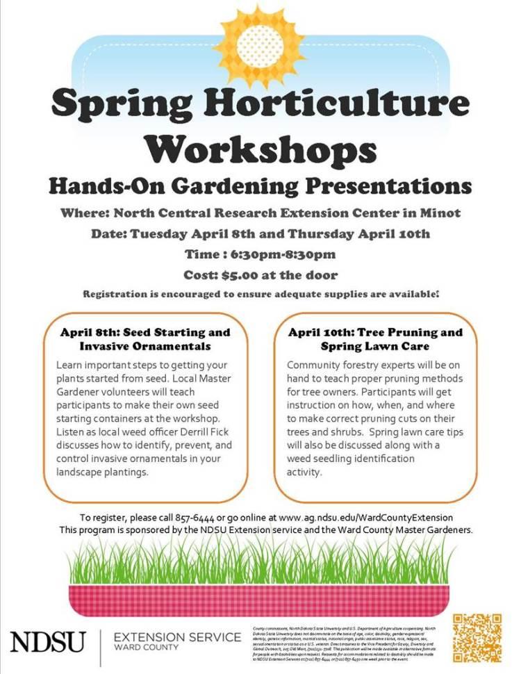 NDSU Spring workshops